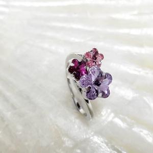 桜シリーズイメージでスワロフスキーのリング