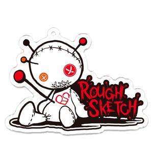 NBSP-001PF_RoughSketch ロゴ アクリルキーホルダー