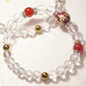 《桜と水晶のブレスレット》
