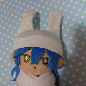 【受注制作】ぬいぐるみ用うさみみ付き帽子・S