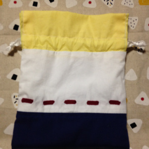 ニコイチ巾着 蘇芳&藍鉄イメージ