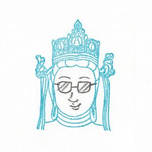 顔出し仏像はんこ ( 大日如来 )