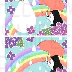 紫陽花の傘