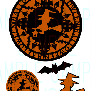 素材【Halloween-Witch-】