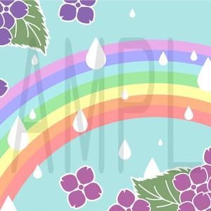 素材【紫陽花雨】