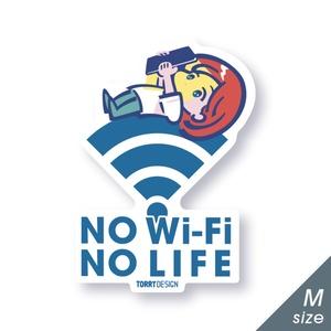 ステッカー「No Wi-Fi No LIFE」Mサイズ