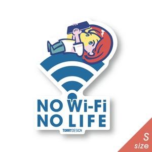 ステッカー「No Wi-Fi No LIFE」Sサイズ