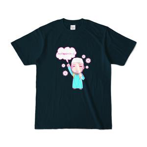 ミニハサンTシャツ(かりふさいこ・黒)