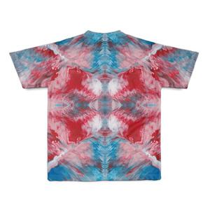 色彩の羽根 全面Tシャツ 001