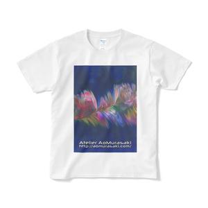 色彩の羽根 004 短納期 白Tシャツ