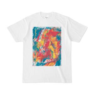 Flower Wing 001 白Tシャツ