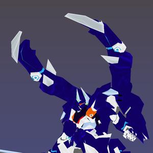 【VRChatQuest版想定ローポリゴンメカアバターモデル】BBX-6 ドゥルクスQuest