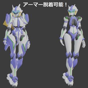 VRChatアバター使用想定 オリジナル女性型ロボットモデル BCW-9 ザイロ
