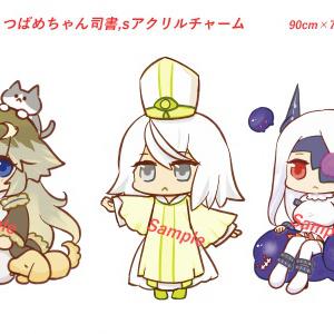 【3種セット】KMAさん作、つばめちゃん司書'sアクリルチャーム3種セット