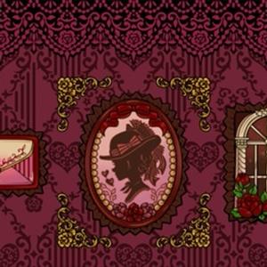 【再アップ】+薔薇と恋文+ペンケース(ワイン)