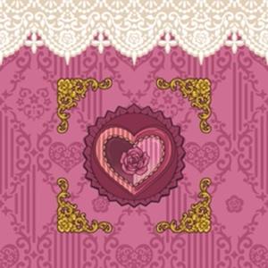 【再アップ】+薔薇と恋文+ペンケース(ピンク)