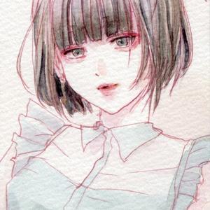 少女【ミニ原画】