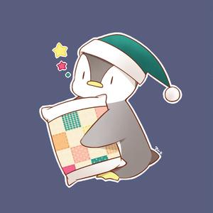 おやすみペンギン缶バッジ