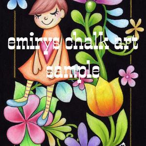 chalk art ポストカードセット