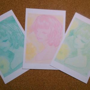 ポストカード(女性1)×3枚
