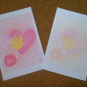 ポストカード(鳥の祝福1)×2枚