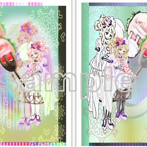 ポストカード(ショートケーキイメージ)×2枚