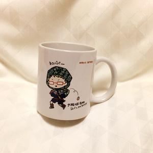 博多くん大阪城名物妖怪コバンオイテケテケマグカップ