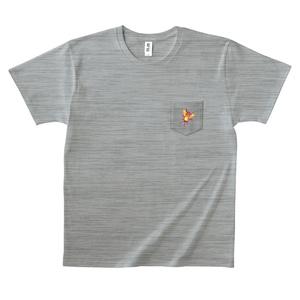 ポケットに虫Tシャツ(グレー)
