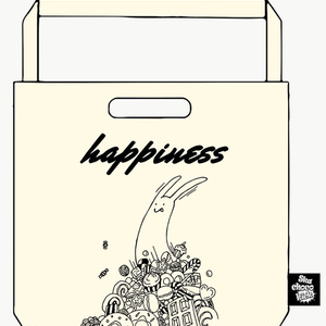 happinessトートバッグ