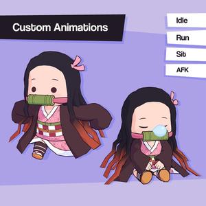Chibi Nezuko (禰豆子) - VRChat Avatar