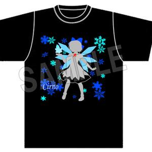 東方Project シルエット 黒Tシャツ『チルノ』