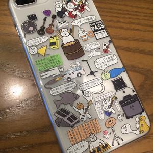 【送料無料】バンドマンのための前衛的なiPhoneケース(透明)