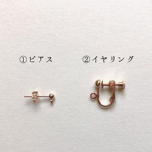 源氏プチフラワーの耳飾り