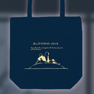 トートバッグ(ネイビー)「BLUE ENDING TOTE」