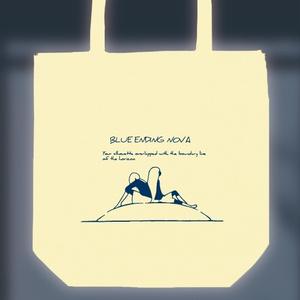 トートバッグ(ナチュラル)「BLUE ENDING TOTE」