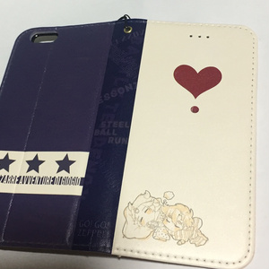ジョセフとジョニィの手帳型iPhone6ケース
