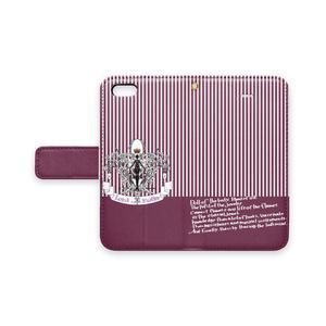 あるじとしつじ◆手帳型iPhoneカバー(ビオラ&クラル)