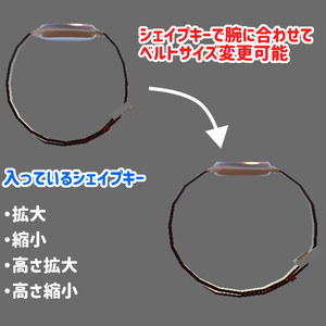 【VRchat向けギミック】滞在時間がわかる腕時計【アバター用小物】