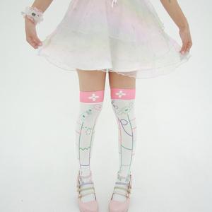 病的あみだくじニーハイ Ghost Legs Knee High Socks