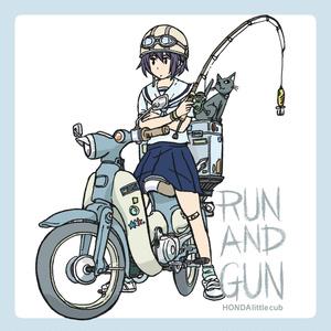 リトルカブ RUN AND GUNステッカー(ver2)