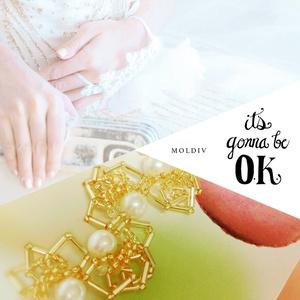 星と雪珠のイアリング【L'Etoile】イメージアクセサリー