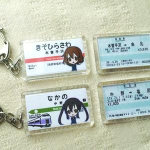 木曽平沢駅 駅名標キーホルダー(夏服)