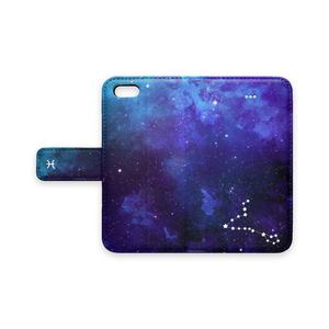 12星座シリーズ【魚座】3月の手帳型スマホケース iPhone