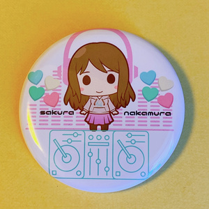 SD桜DJ缶バッジ