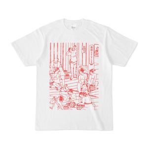 浮世絵 × 混浴STYLE「混浴UKIYOE Tシャツ」赤色