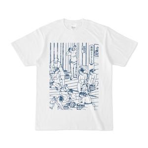 浮世絵 × 混浴STYLE「混浴UKIYOE Tシャツ」藍色