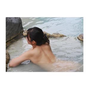 蜜月檸檬 ポスター「薄水色の混浴露天風呂」