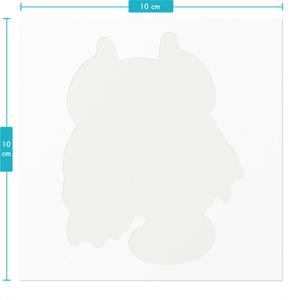 夢魔ぺろりステッカー - 100 x 100 (mm)