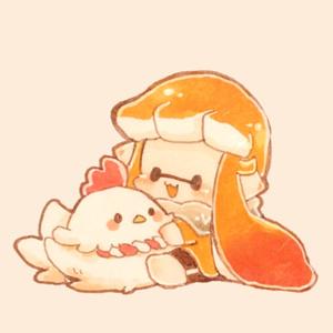 【鈴付き】ちんまいイカちゃんとミウラさん缶バッジストラップ