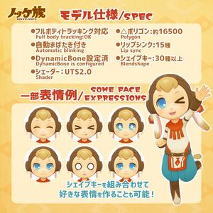 オリジナル3Dモデル『ノッケ族』
